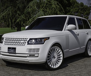 classy, range rover, and white image