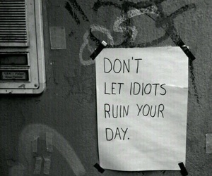 hate, idiots, and quote image