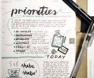 inspiration, notebook, and post it image