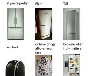 funny, fridge, and people image