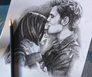 drawings, fanart, and elena gilbert image