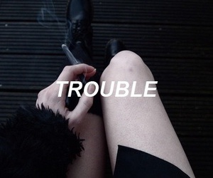 trouble, grunge, and black image