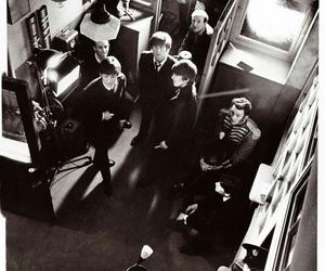 black and white, john lennon, and Paul McCartney image