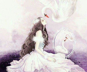 beautiful, Swan, and art image