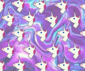 unicorn, wallpaper, and violet image