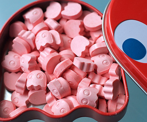 candy, pacman, and pink image