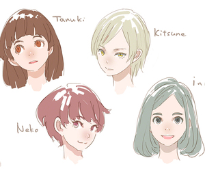 anime girl, faces, and short hair image