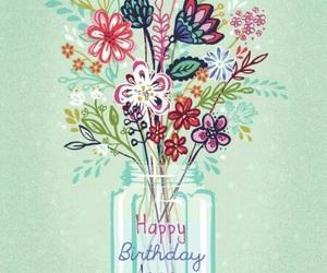 art, birthday, and flowers image