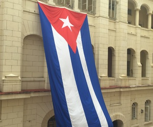 cuba, flag, and travel image
