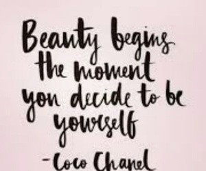 quote, beauty, and chanel image