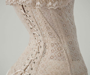corset, vintage, and dress image