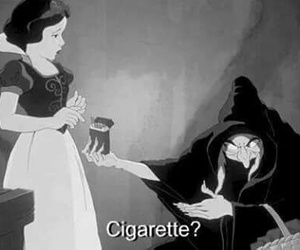 cigarette, snow white, and disney image