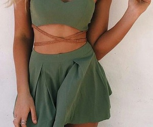 fashion, green, and dress image