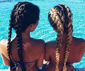 bff, blonde, and chic image