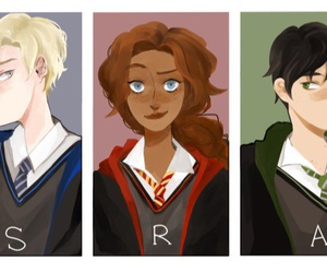 draco malfoy, potter, and rose image