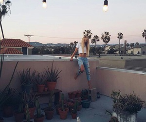 girl, los angeles, and travel image