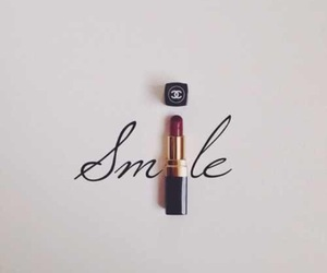 smile, lipstick, and chanel image