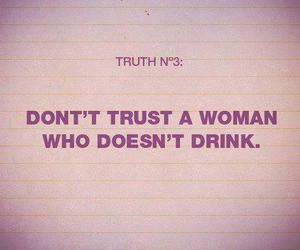 drink, woman, and text image