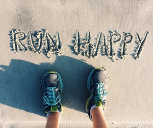 happy, run, and fit image