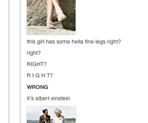 funny, tumblr, and Albert Einstein image