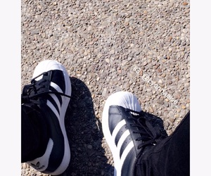 adidas, black, and chaussure image