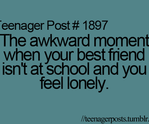 school, teenager post, and lonely image
