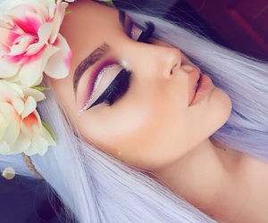 beauty, eyeliner, and pastel image