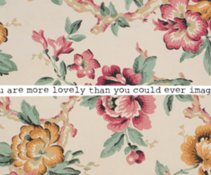 lovely, flowers, and quote image