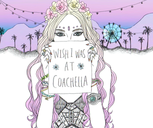 coachella, girl, and drawing image
