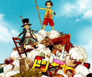 one piece, portgas d ace, and monkey d luffy image