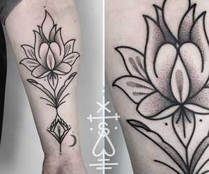 black, tattoo, and ink image