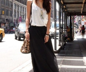 fashion, maxi skirt, and summer fashion image