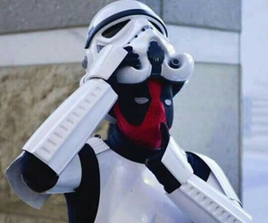 deadpool, funny, and star wars image