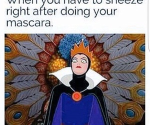 funny, mascara, and disney image