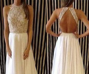 backless, formal, and lace image