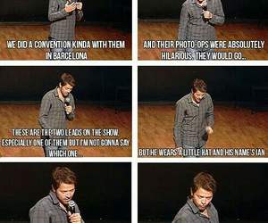 actor, funny, and castiel image