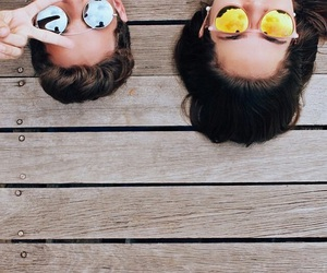 summer, friends, and sunglasses image