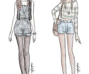 drawing, fashion, and girl image