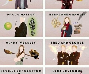 harry potter, luna lovegood, and draco malfoy image