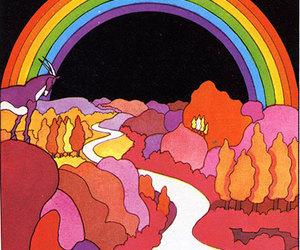 comic, rainbow, and illustration image