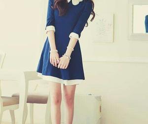 dress, blue, and korean image