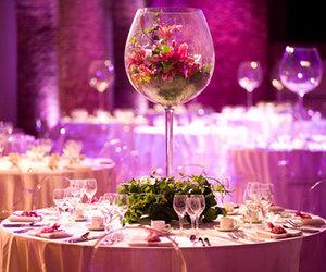 wedding, purple, and pink image