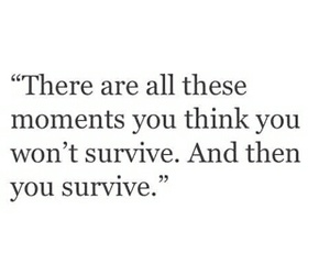 quotes, survive, and life image