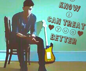 Lyrics, song, and treat you better image