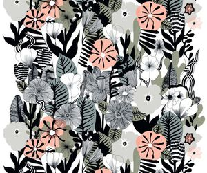 art, floral, and black and pink image