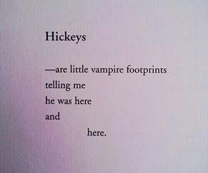 hickey, vampire, and footprints image