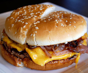 food, burger, and cheese image