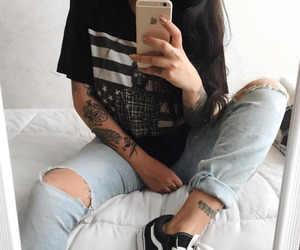 iphone, tattoo, and vans image