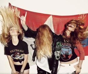 girl, rock, and hair image