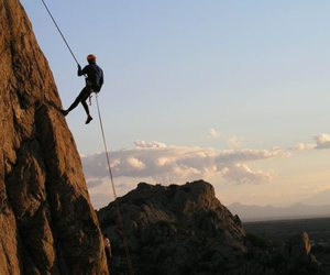rappelling rock climbing, outdoor adventure india, and indian lakes resort image